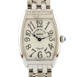 Franck Muller Watches 1752qz Silver Stainless Steel Tono Carbex From Japan