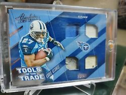 2017 Panini Absolute Eddie George Tennessee Titans Sp Game Worn Relic31/49
