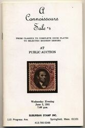 B537 Suburban Stamps auction cat for US classic stamps errors amp; duck plates