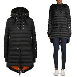 Nwt Bogner Debby-d Down Coat Black Ski Parka Us 6 S Laced Fishtail Anorak