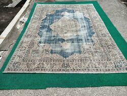 Retro Vintage Oushak Rug/free Shipping/home Living Rug/hand-knotted Turkish Rug