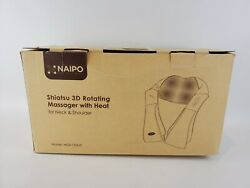 Naipo Mgs-150dc Shiatsu 3d Rotating Massager With Heat For Neck, Back, Shoulder