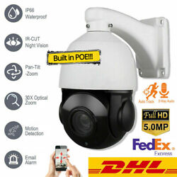 5mp 36x Zoom Compatiable Auto Tracking H.265 Ip Ptz Dome Camera P2p Mobile View