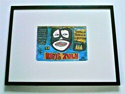 Jean-michel Basquiat King Zulu A Signed Original Painting Neo-expressionist