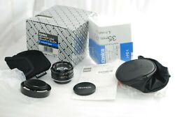 Rare Unused Boxedkonica Uc-hexanon 35mm F/2 For Leica L Only 1000 Made 4095