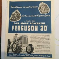 Original 1952 Ferguson 30 Tractor Ad Thats The Far More Powerful Tractor 10x14
