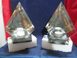 Partylite Marble And Mirror Lite Mirrored Images Tea Light Holder