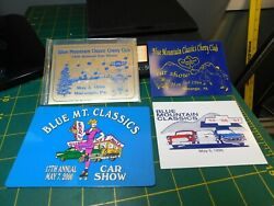 Vintage Blue Mountain Classic Cars And Chevy Club Car Show Dash Plaques 4pc