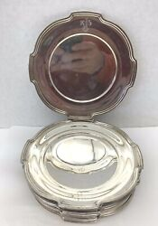 R. Wallace And Sons15 Sterling Silver 6and039and039 Plates 75 Ounces And039kjsand039 Initial