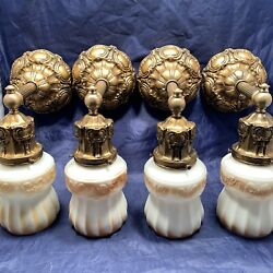 Set Of Four 4 Quality Antique Wall Sconces Withandnbspdark Gracian Gold Finish 106d