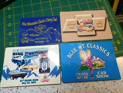 Vtg. Blue Mountain Classic Cars And Chevy Club Car Show Macungie Dash Plaques 4pc