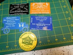 Pace-makers Association Car Club Of Palmerton Pa. Car Show Plaques And Button