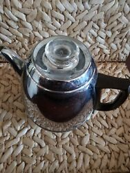Vintage General Electric Electric Coffee Pot Percolator With Control Levels