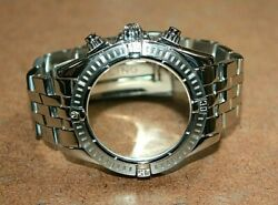 Genuine Breitling Ss Pilot Band And Case For Chronomat Evolution 357a [011wei]