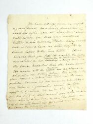 Holographic Letter From First Lady Dolley Madison