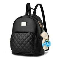 Women Small Black Backpacks Girls Bags Pu Leather Shoulder Strap School Bag $42.99
