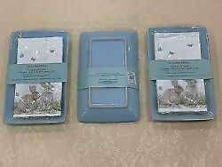 Williams-sonoma Floral Meadow Ceramic Tray And Guest Towels Set - Set Of 3 - New