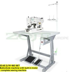 Zoje Zj781-bd Set Buttonhole Machine With Built In Motor-complete Sewing Macach