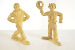 Vtg Lot Of Two Clown 1950s Marx Super Circus Playset Figures Sideshow
