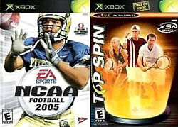Ncaa Football 2005 Microsoft Xbox 2004 W/ Top Spin Combo Offer Larry Fitz