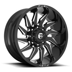 20x10 Gloss Black Rims Fuel Saber 2007-2021 Lifted Jeep Wranglers 5x5 -18mm D744