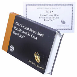 Empty Packaging Replacement Proof Presidential Dollar Set Box No Coins 2012