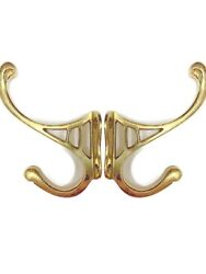 2 Hall Stand Coat Hooks Door Solid Brass Antiques Polished Old Style 4 Deco B