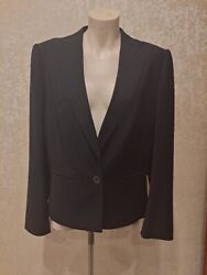 Givenchy Alexander Mcqueen A/w 2000 Black Loose Fit Flat Collar Jacket 38 M Fab
