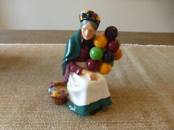 Vintage Royal Doulton The Old Balloon Seller Hn1315 In Perfect Condition