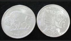 1 Oz Buffalo/indian Head Silver Rounds .999 Uncirculated Tube Of 20