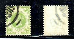Great Britain 122 1sh Green Queen Victoria 1887 Scarce Used Stamp