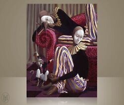African American Art - John Holyfield - The Entertainers Canvas Giclee