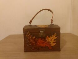 Beautiful Vintage Hand Carved Wooden Chest
