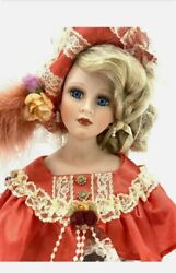 Beautiful Vintage One Of A Kind Porcelain Music Doll Bust Woman, Lace Flowers