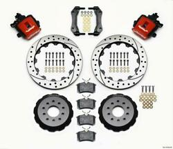 Wilwood 140-10158-dr Combination Parking Brake Rear Kit 12.88in Drilled Red Must