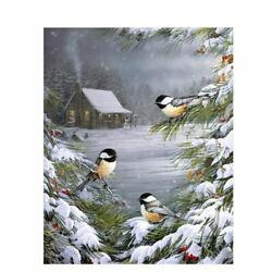 Bird Paint By Number Snow On Canvas Drawing Coloring Number Picture Home Decor