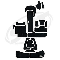 Seadoo Speedster 1996-2000 14and039 Jet Boat Complete Kit Traction Mats Blacktip