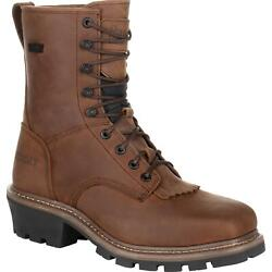 Rocky Square Toe Logger Waterproof Work Boot $92.99