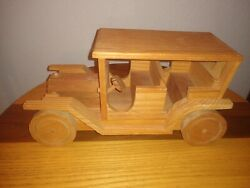"""Handmade Wooden Vintage Truck Toy 10.5""""l 4 W Vintage Style Signed"""