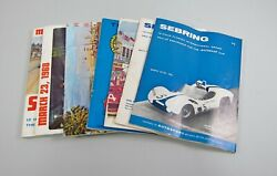 7 Official Programs 12 Hours Of Sebring From 1961-1969 Some Original Inserts