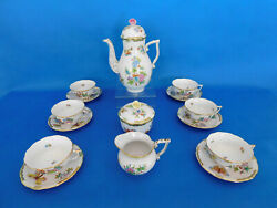 Herend Queen Victoria Tea Set For 6 Person With Round Pot Porcelain Vbo