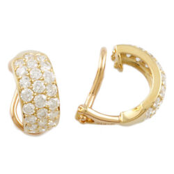 Mikimoto Earring Gold 18k K18 Gold Diamond 1.62ct Clip Type From Japan
