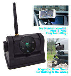 Wireless Wifi Magnetic Trailer Hitch Camera Rechargeable Battery 6400mah Powered