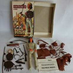 Complete Vintage Johnny West Marx Geronimo Action Figure W/box And Accessories