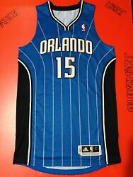Authentic Vince Carter Orlando Magic Adidas Pro-cut Game Jersey Sewn Issue L 44