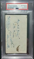Charles Dickens Signed Autograph Psa/dna Authentic