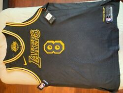 8 Kobe Bryant Los Angeles Lakers Authentic Jersey Lore Series Edition. Sz58 '18