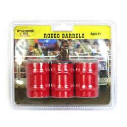 Little Buster Toys All Metal Rodeo Barrels In Red, 1/16th Scale 200819