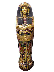 Queen Sarcophagus Coffin Cabinet - Egyptian Statue - Mummy Bookcase Cabinet