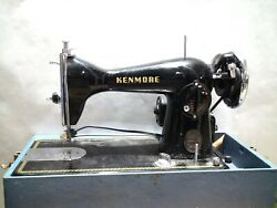 Antique Kenmore De Luxe Sewing Machine With Case